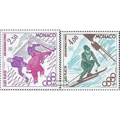 monaco 1419-1420 (complète.Edition.) 1980 Jeux Olympiques (Timbres pour les collectionneurs)