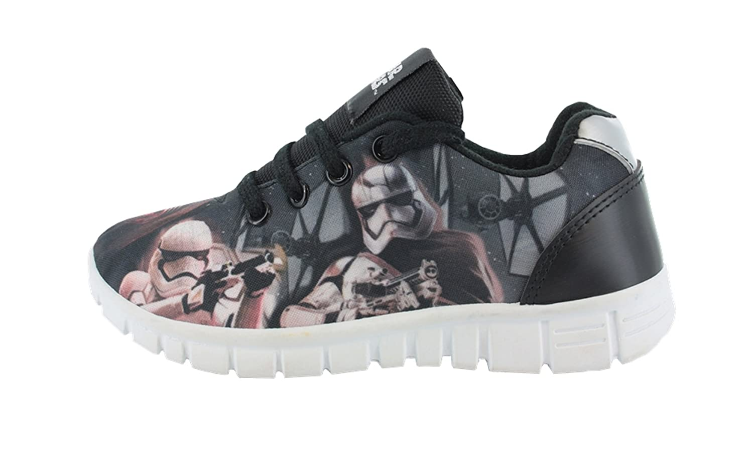 aaf770ac13142 Star Wars Boys The Last Jedi Black Lace up Casual Trainers Various ...