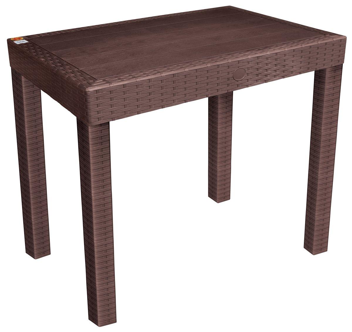 Avon Furniture Nexa Plastic Table Brown Amazon In Home Kitchen