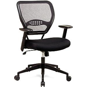 SPACE Seating AirGrid Dark Back and Black Mesh Seat