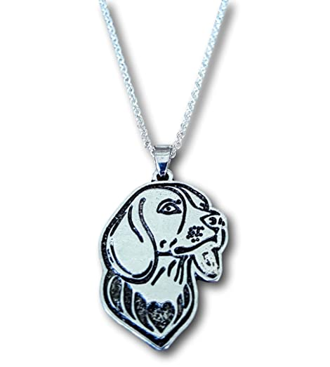 Pashal Boxer Dog Etched Silver Chain Pendant Dog Necklace by jlFoO