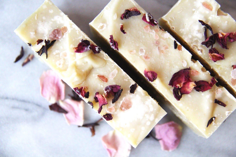 Grapefruit & Jasmine Himalayan Salt Soap- Natural, Vegan, Organic, 4.5 Ounces