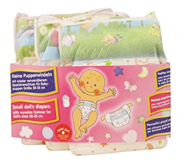 Heless 375 Diaper Doll (3 Piece), Small
