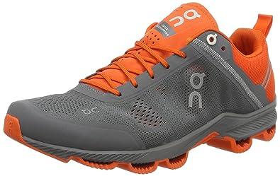 On Running Cloudsurfer Rock Orange Hommes Chaussures De Course Running Chaussures Gris Nouveau