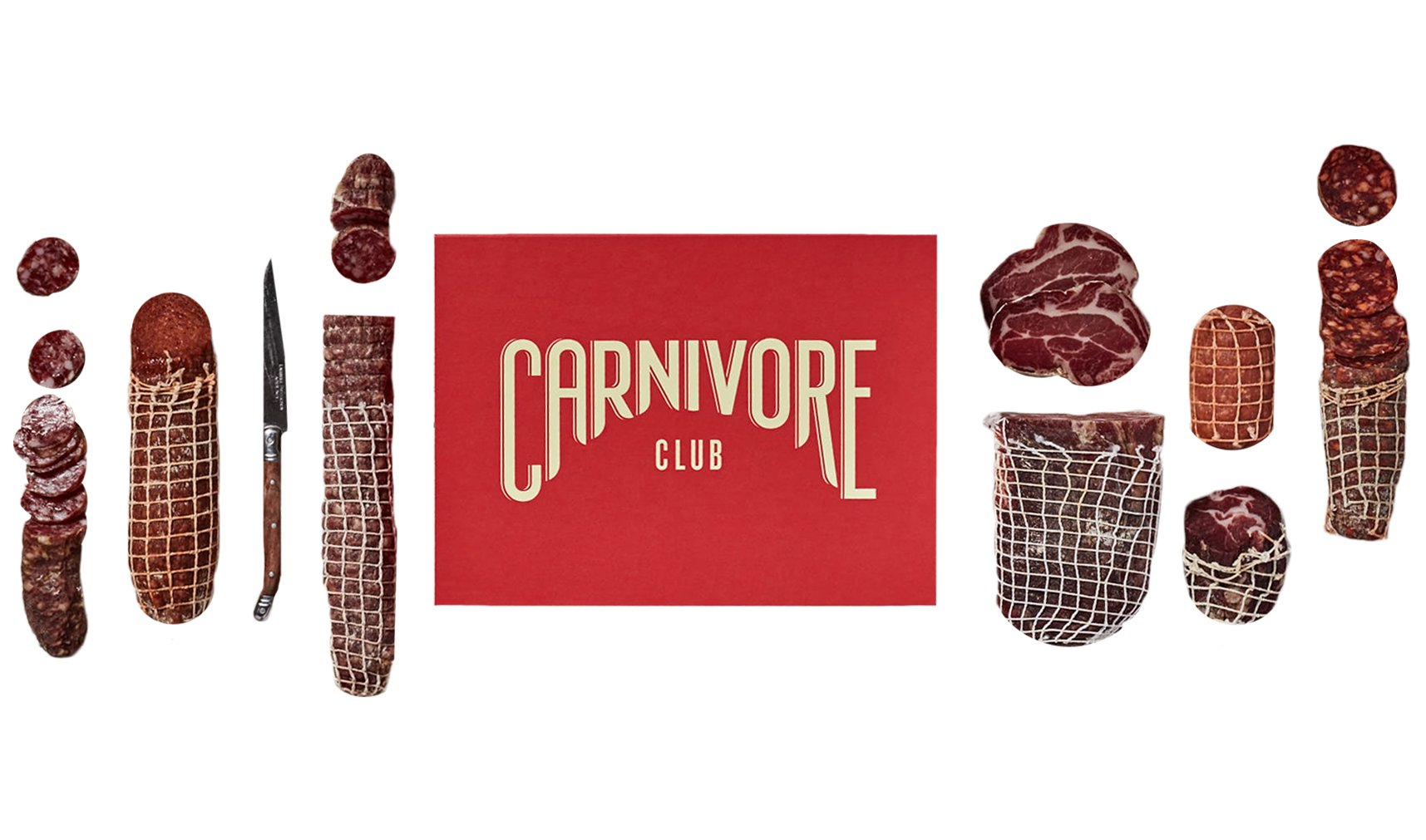 Carnivore Club Gift Box (Gourmet Food Gift) - Food Basket - 4 to 6 Cured Meats - Comes in a Premium Gift Box - Great Gift For Men & Women - Great with Crackers & Cheese & Wine by Carnivore Club