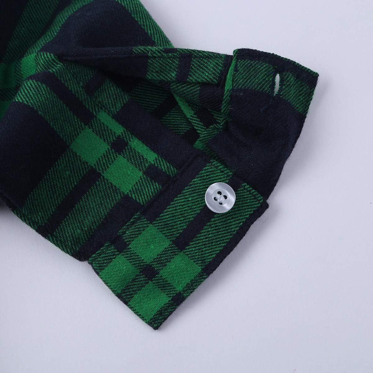 YiZYiF Enfant Gar/çon Chemise /à Manche Longue Chemise /à Carreaux Uniforme Scolaire Costume de Ecole Haut Coton Chemise C/ér/émonie Soir/ée Chemise de Mariage 18 Mois-10 Ans