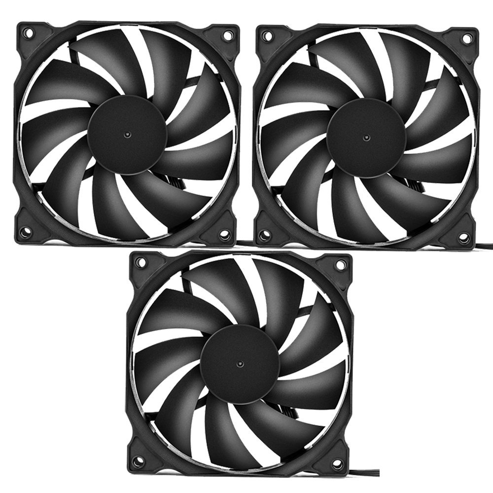 uphere 3-pack Long Life Computer Case Fan 120mm Cooling Case Fan for Computer Cases Cooling by upHere (Image #7)