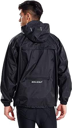 Chubasquero Baleaf, unisex, empaquetable, resistente al agua, para exteriores, con capucha