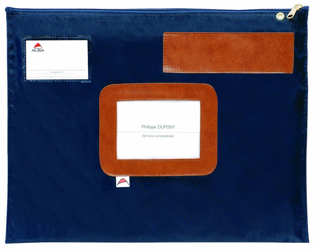 Alba Pocais - Sobre reutilizable de nailon impermeable (27 x 4 x 18,5 cm), color azul 016514
