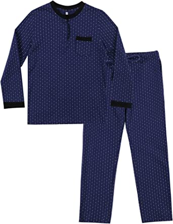 Irevial Pijama niña Invierno, Pijama de 100% Algodon para 6-16 años,Cálido Manga Larga Camiseta y pantalón Largo Ropa de Dormir 2 Piezas con Punto ...