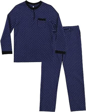 Irevial Pijama niña Invierno, Pijama de 100% Algodon para 6-16 años,Cálido Manga Larga Camiseta y pantalón Largo Ropa de Dormir 2 Piezas con Punto Redondo,Talla Grande
