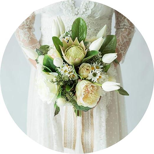 Amazon Com Colorful Sunlight Peony Wedding Bouquets Bridal