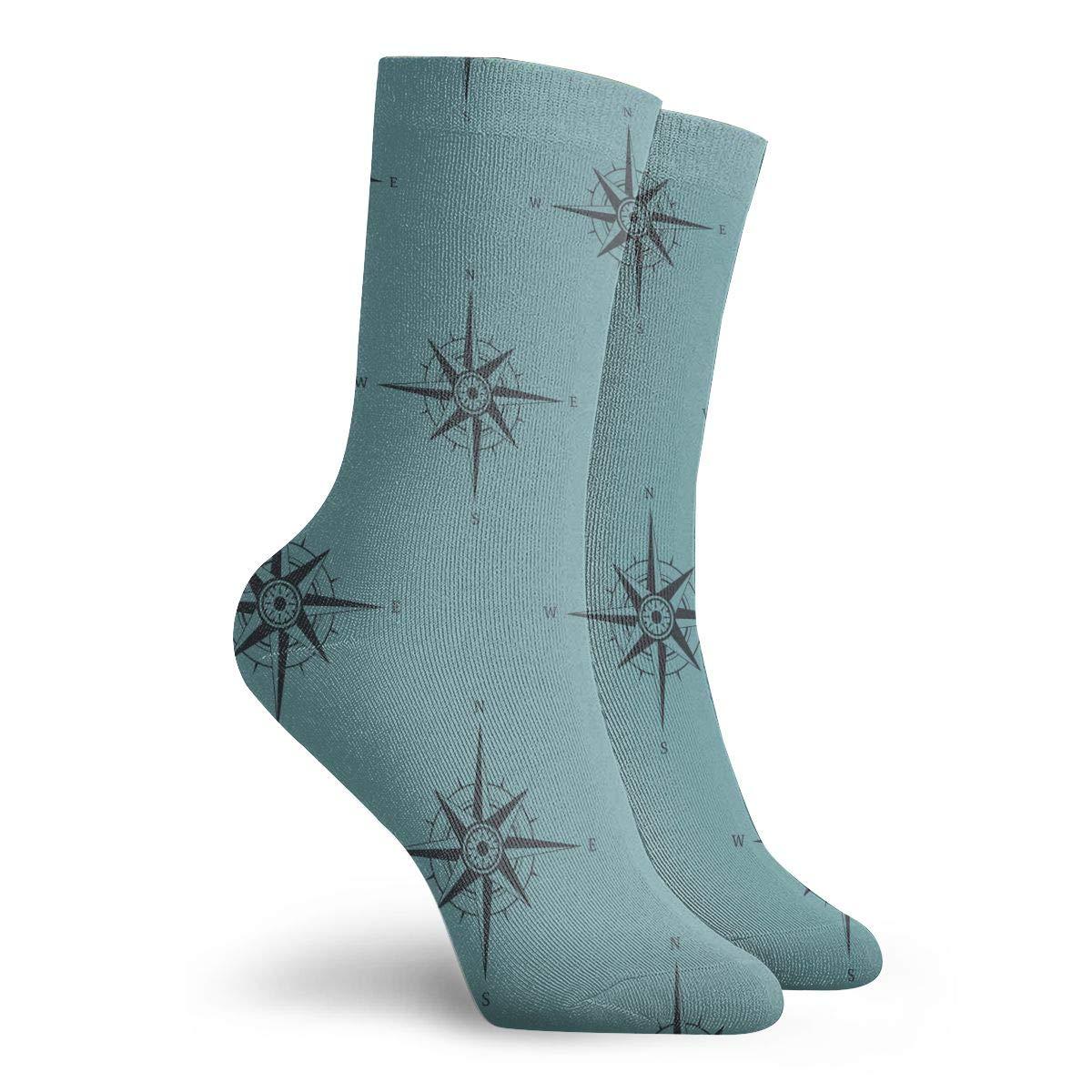 Navigation Compass Unisex Funny Casual Crew Socks Athletic Socks For Boys Girls Kids Teenagers