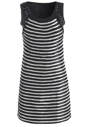 Damen Enganliegendes Partykleid Größe 10-12-14: Amazon.de: Bekleidung