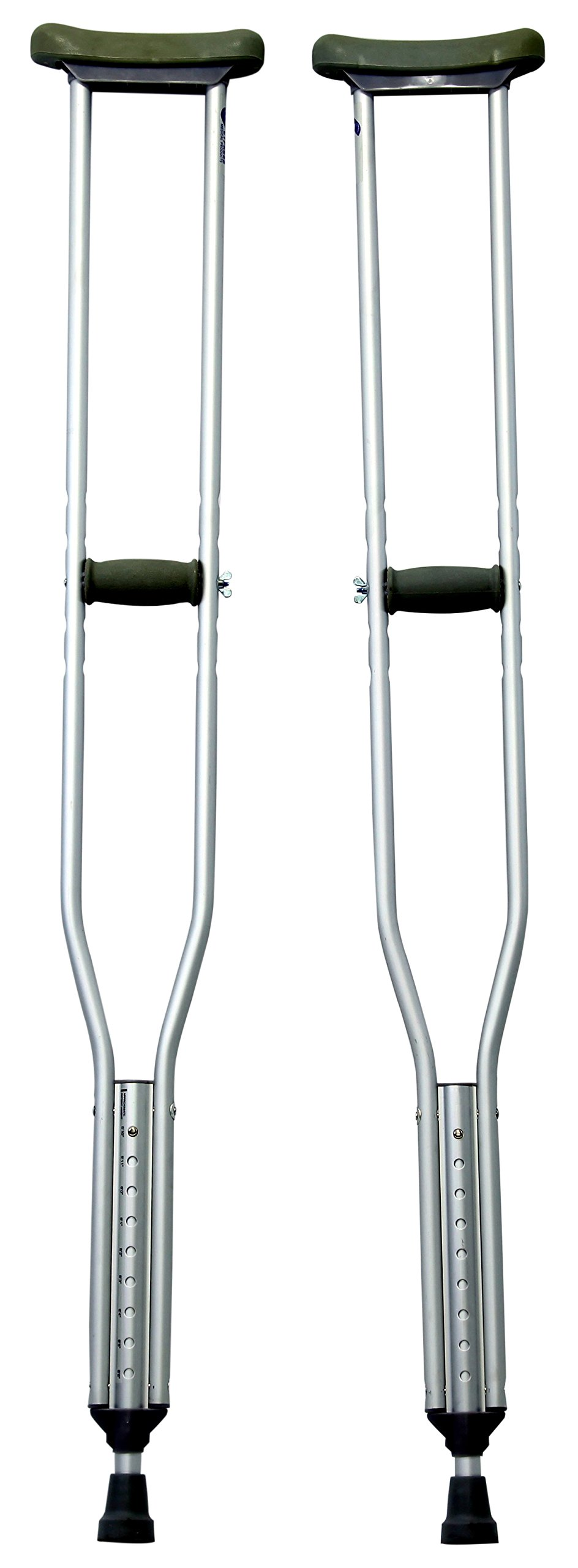 Karman Healthcare Universal Aluminum Crutches, Regular Adult, 2 Pound