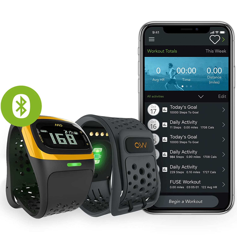 b17ba9b238 Amazon | 【日本国内正規販売品・保証付】MIO Alpha 2 ミオ アルファ 2 Yellow Trim イエロー Bluetooth  SMART/Bluetooth 4.0対応【継続的心拍計付き腕時計】 | Mio ...