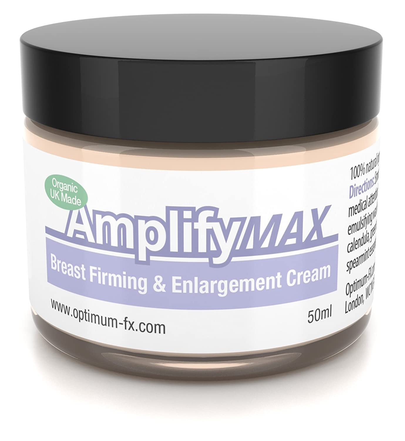 Amplify MAX Enhanced Breast Firming Cream Works In 30 Days 11 Ways To A Fuller Firmer Bust FAST UK Made With Natural And Organic Ingredients - Paraben and Cruelty FREE - 50ml 999467M