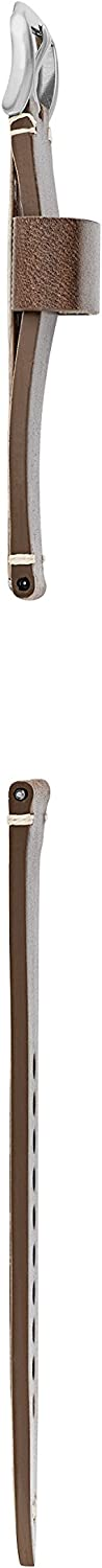 Fossil Leather and Stainless Steel Interchangeable Watch Band Strap Dark Brown Single Keeper/Silver