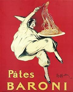 Pates Baroni by Leonetto Cappiello Vintage Advertisement Reproduction Print Poster (16 x 20)