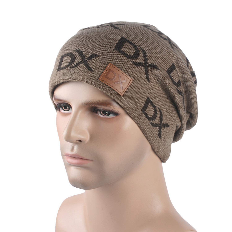 e276b98f5b6 Caps Winter Ball Beanie Hat Knit Hat Skullies Hole Cap Winter Hats Wool  Unisex Casual Letter Keep Warm hat Black at Amazon Women s Clothing store
