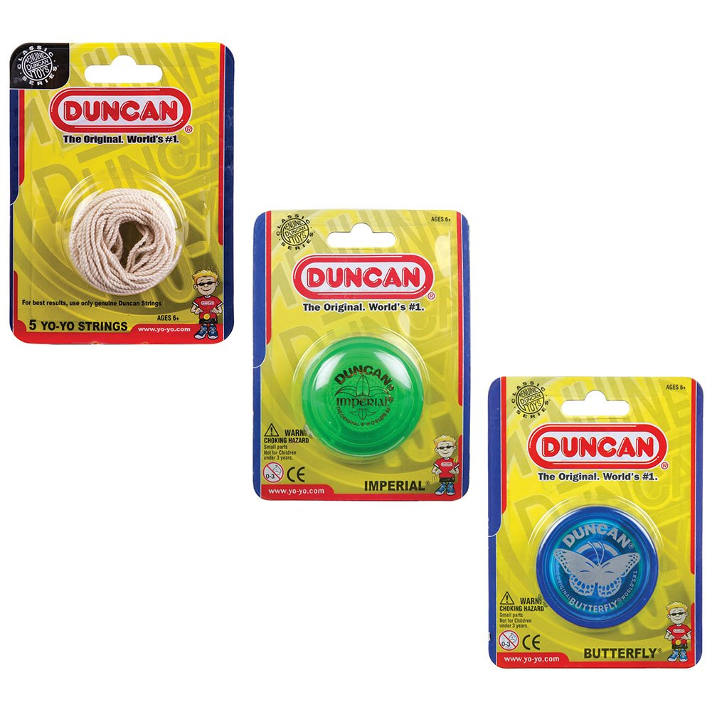 Duncan Imperial and Butterfly Yo-Yo with Replacement Strings Classic Toys Bundle