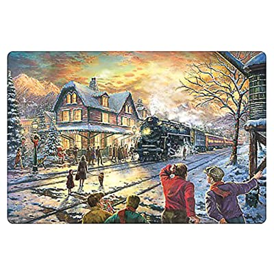 Allywit 1000 Piece Jigsaw Puzzle - Beautiful Snow/Cute Animal - Landscape for Kids Adult Teens Reduced Pressure Toy Gift Scenery Entertainment DIY Toys Learning Games Cooperative Games (D): Office Products