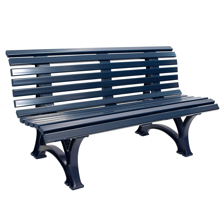 Gartenbank HELGOLAND Blau, 3-Sitzer, Kunststoff bestellen