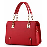 Jiu Hong C&L New Fashion Womens PU Leather Padlock Tote Handbag Shoulder Bag