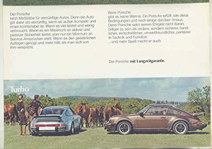 Amazon.com: 1977 Porsche 911 Carrera 3.0 930 Turbo European Brochure Poster German: Entertainment Collectibles