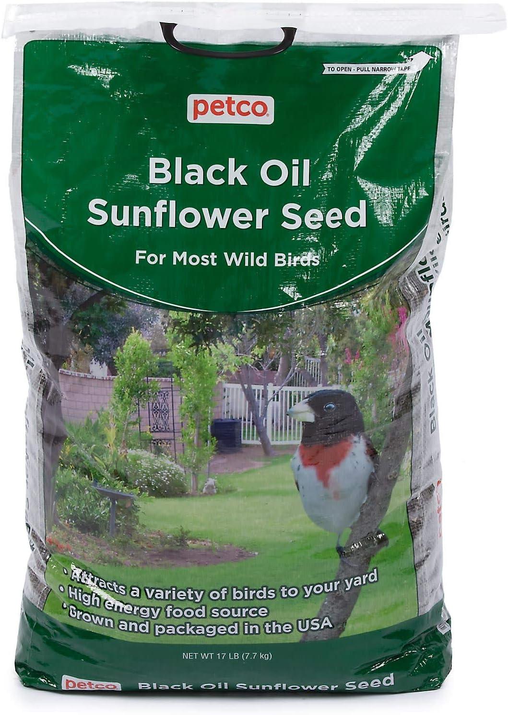 Petco Brand - Petco Black Oil Sunflower Seed Wild Bird Food, 17 lb Bag, 17 LBS