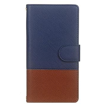 351a3dd3c2 Ostop Portefeuille Homme Coque pour Samsung Galaxy Note 9,Bleu Marine Étui  en Cuir Simple