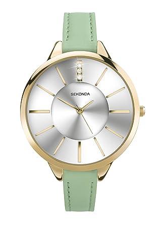 e5025a29cb91 Sekonda Women's Quartz Watch with Analogue Display and PU Strap: Amazon.co. uk: Watches