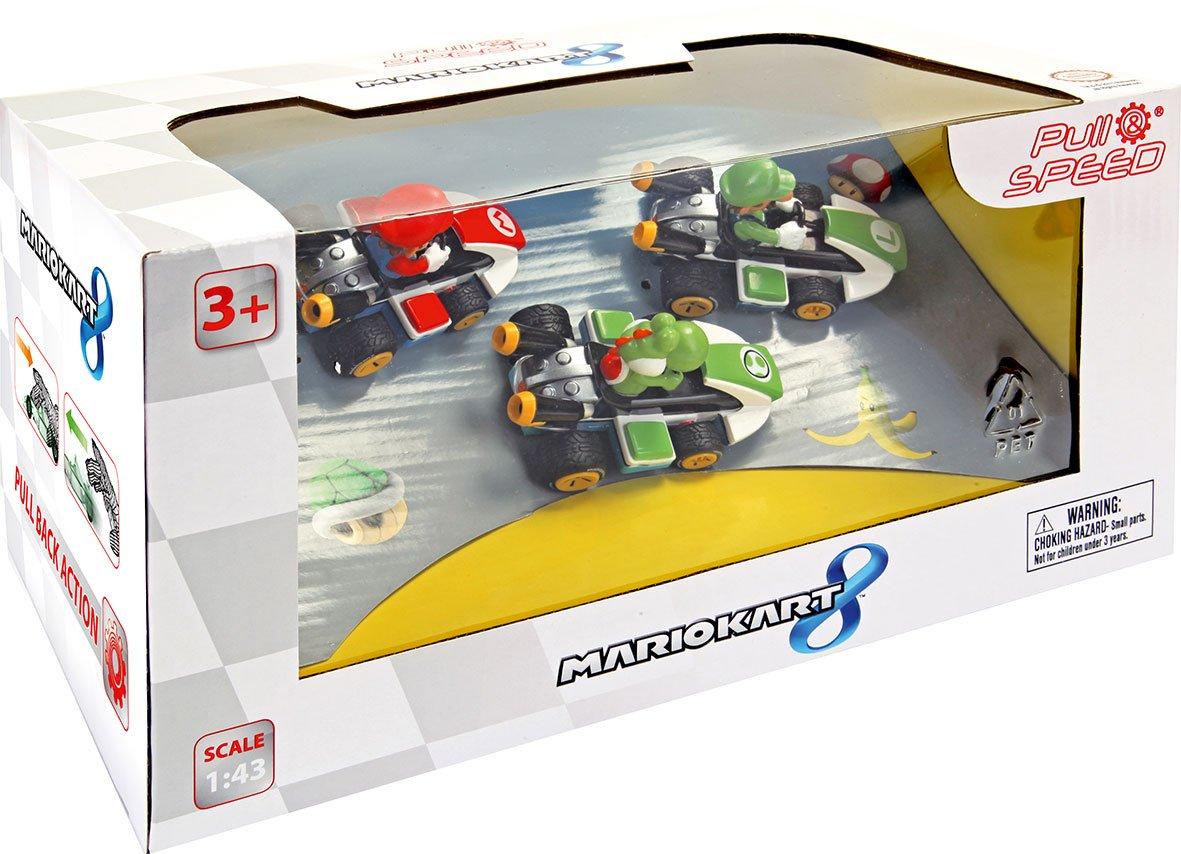 Unbekannt Pull&Speed 15813010 - Mario Kart 8 3 Pack, Fahrzeuge mit Funktion