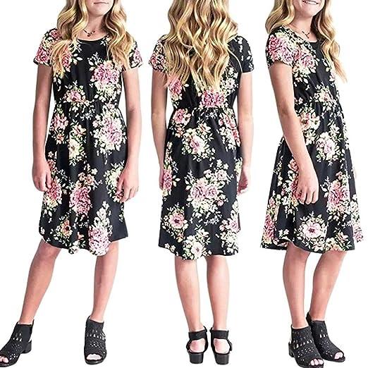 a91343550d Amazon.com  TiTCool Big Girls Casual Dress
