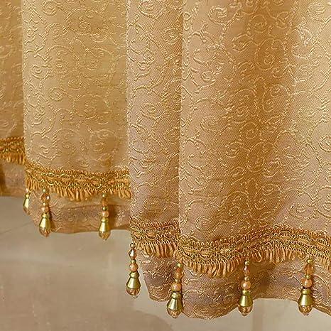 YQ WHJB Pure Dentelle Occultant Blackout Curtain Set W118xD106inch 1 Les Panneaux-A W300xD270cm Oeillets Rideau Tulle Isolation Thermique Chambre Rideaux de fen/être