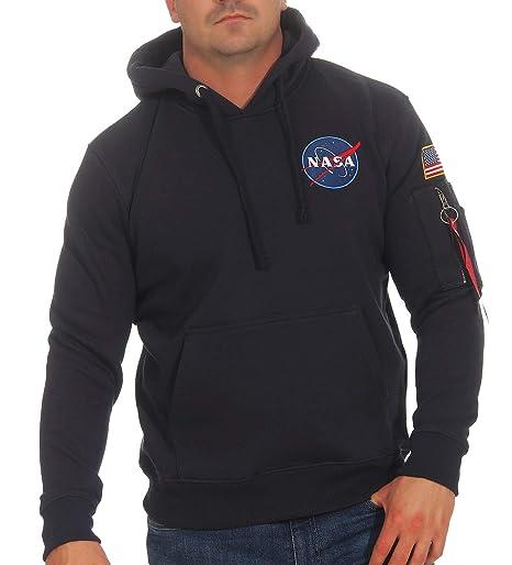 Alpha Industries Space Shuttle Hoodie Dunkelblau M