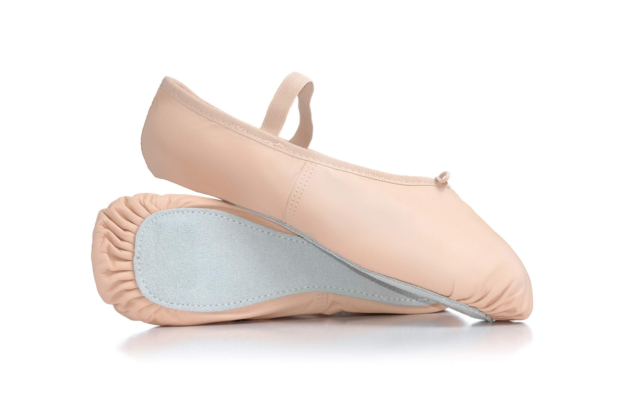 Adult Premium Leather Full Sole Ballet Shoes T2000PNK03.0W Pink 3 W US by Theatricals