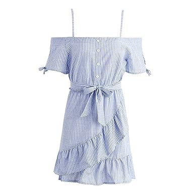 DaveDu plissado do vintage arco tarja de manga curta dress shirt summer dress botão das mulheres