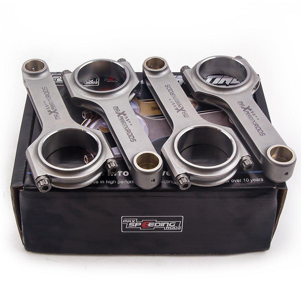 maXpeedingrods H-Beam forjado varillas de conexión para Fiat Punto GT 1,4 1.6L Turbo 4340 conrods con Arp 2000 Pernos: Amazon.es: Coche y moto