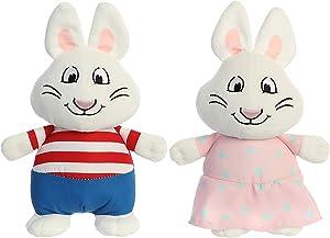 Aurora Bundles of 2 6.5 Inch Plush Animals: Max and Ruby Bunnies