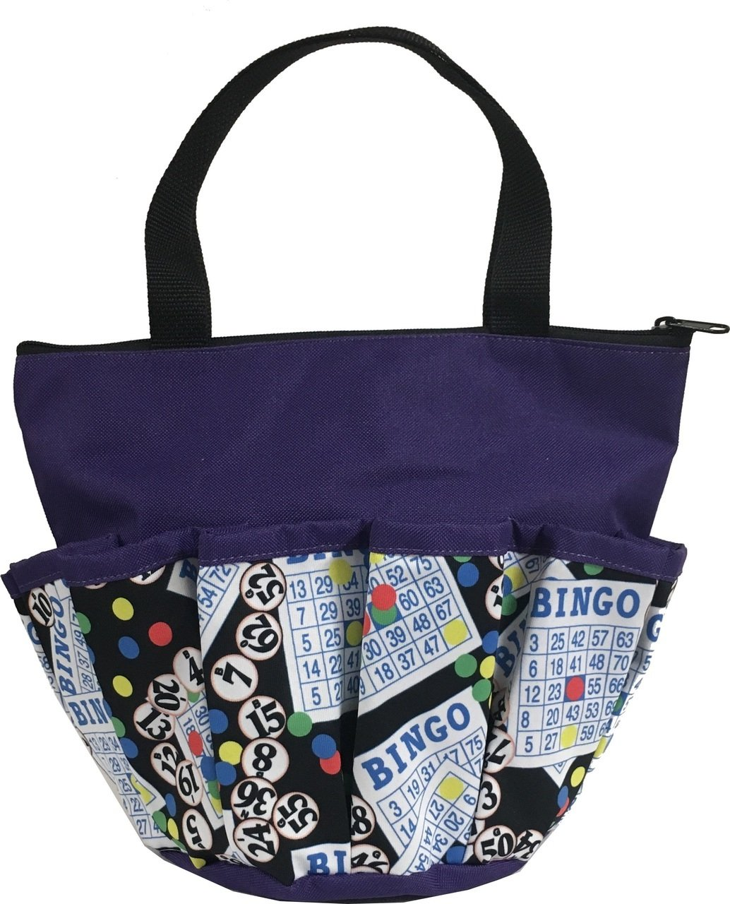 10 Pocket Bingo #1 Purple Zipper Bingo Bag