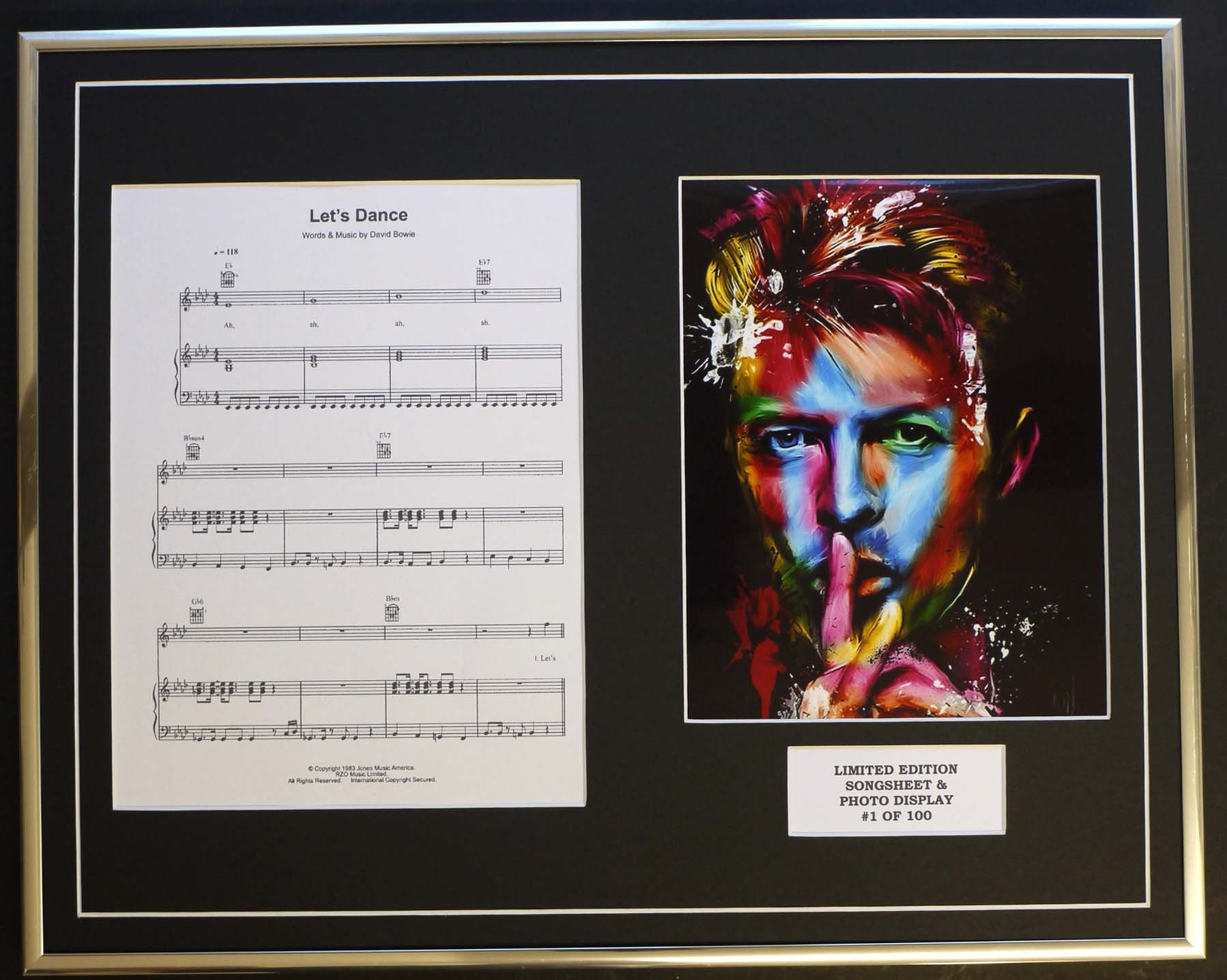 EC David Bowie/SONGSHEET & Photo Display/LTD. Edition/Let's Dance