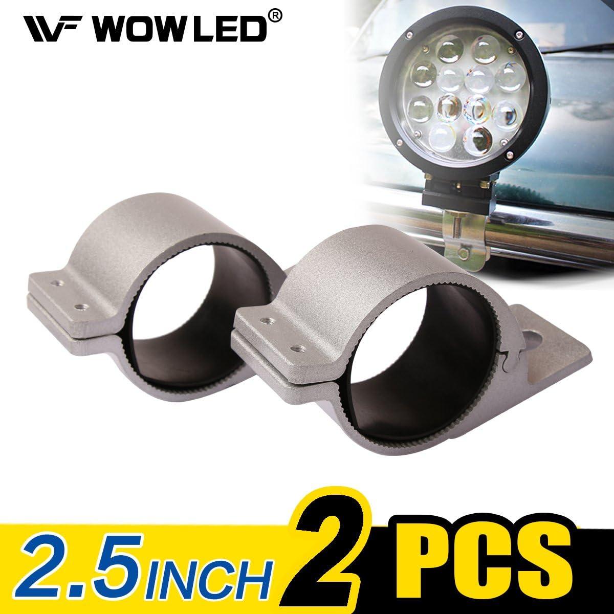 pour barre lumineuse LED de camion WOWLED Pince de fixation de support de par-buffles deux pi/èces de 6,3/cm projecteurs UHF HID TJM