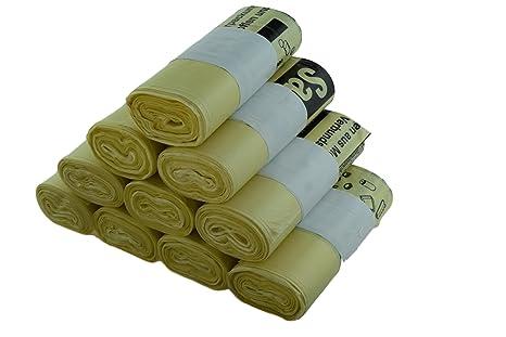 Juego de 10 rollos de bolsas amarillas de basura XXL, para ...