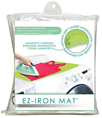EZ Iron 28u0026quot; X 21u0026quot; Mat By Evriholder Magnetic Ironing Surface Pad  Heat