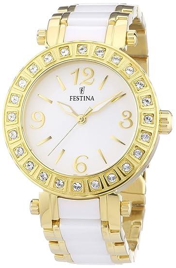 Festina F16644/1 - Reloj analógico de cuarzo para mujer, correa de diversos materiales