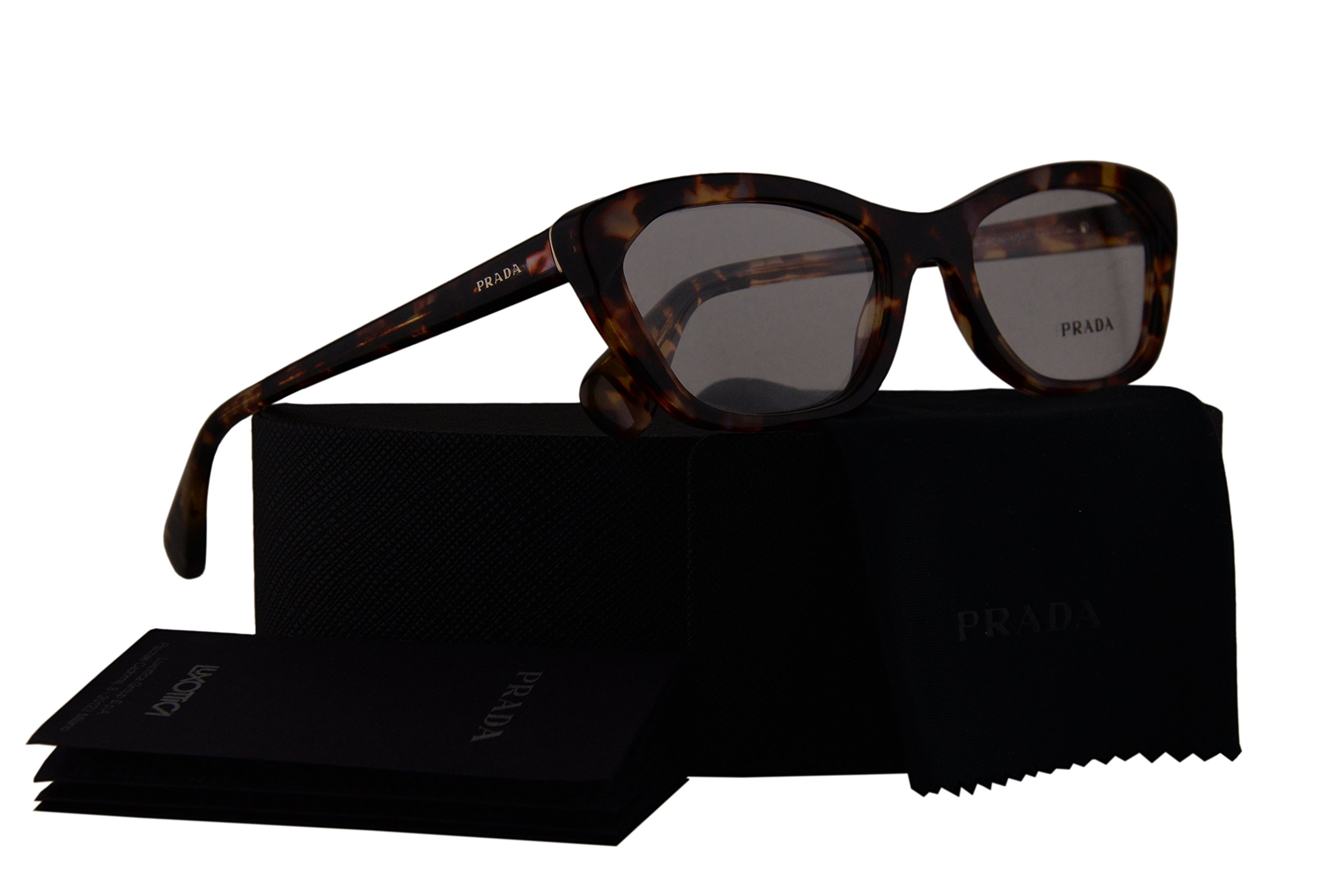 Prada PR03QV Eyeglasses 52-18-140 Spotted Havana Pink w/Demo Clear Lens PDN1O1 VPR03Q VPR 03Q PR 03QV