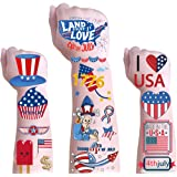 DmHirmg 4th of July Temporary Tattoos with American Flag, Independence Day Tattoos , 4th of July, National Day, Memorial Day