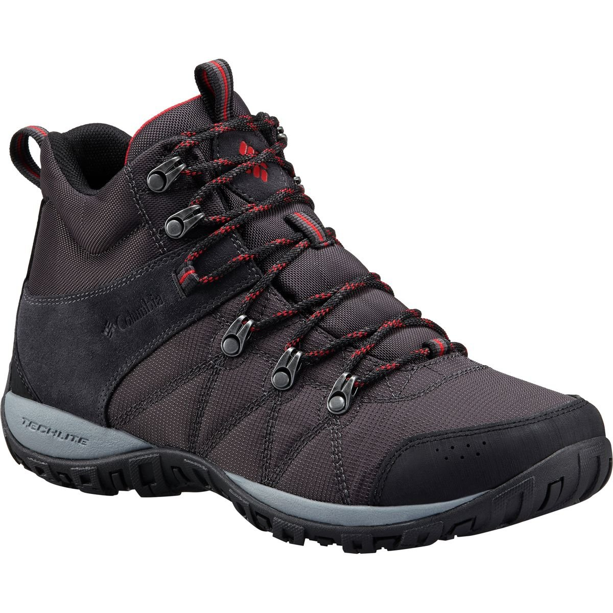 Columbia Men's Peakfreak Venture Mid LT Hiking Boot, Shark, Mountain Red, 7 Regular US