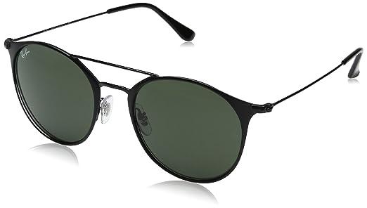 Ray-Ban Steel Unisex Round Sunglasses, Black Top Matte Black, 49 mm